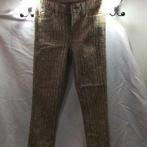 Unique skinny wool like dressy pants